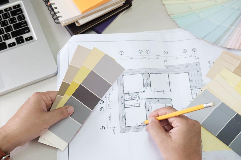 progettazione arredamento, pantone, progettista, interior designer